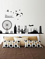 Black Ferris Wheel City PVC Wall Stickers Wall Art Decals