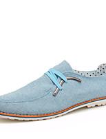 Scarpe da uomo - Sneakers alla moda - Casual - Lino - Blu / Grigio / Beige