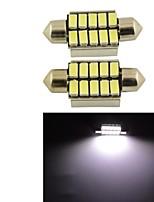 Carking™ Festoon 36mm-5630-10SMD Car LED Rome Lamp White Light (12V/2PCS)
