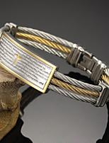 Homme Bracelets Rigides Mode Pierre Gothique Acier inoxydable Forme Ronde Bijoux Pour Soirée Anniversaire Fête/Soirée