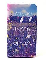 Для Кейс для  Samsung Galaxy Кошелек / Бумажник для карт / со стендом Кейс для Чехол Кейс для Цветы Твердый Искусственная кожа SamsungS6
