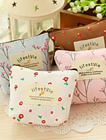 monedero de la flor de la vendimia bolso de la pluma del lápiz de flores de maquillaje cosmético caja del filtro de almacenamiento (color