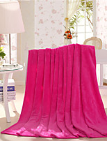 Hot Pink Fleece King Size Blanket 200x230cm