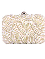 L.WEST Woman Fashion Imitation Pearl Evening Bag