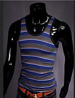Men's Fashion Stripe Slim Elastic Vest