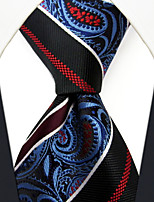 P29  New Handmade Dress Men's Neckties Red Blue Multicolor Stripes Paisley 100% Silk Business Jacquard Woven