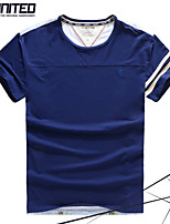 Brand H-United®Men's Fashion Plus Sizes/ Big-Tall Men 3D Print Short Sleeve Contrast Color T-Shirts with Strips on Cuffs