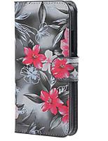 preto com capa de couro caso magnética flor rosa com slots de stands e de cartão para Lumia 640 microsoft