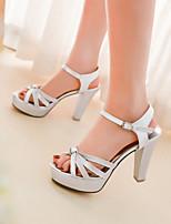 Women's Shoes Chunky Heel Heels/Open Toe Sandals Dress Black/Silver/Gold