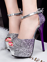 Women's Shoes  Stiletto Heel Heels/Peep Toe/Platform/Open Toe Sandals Casual Blue/Purple/Red