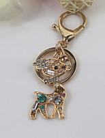 Fashion Unisex Shining Crystal Diamond Deer Pendant Keychains