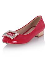 Women's Shoes Chunky Heel Heels/Round Toe/Closed Toe Pumps/Heels Office & Career/Dress/Casual Black/Blue/Red/Beige