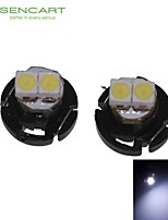 2 x T4.2 2LED 3528smd koel wit licht voor de auto dashboard gloeilamp (dc12-16v)