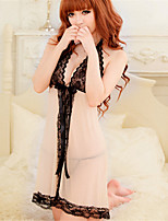Women's Ice Cotton Lace Lingerie/Robes/Ultra Sexy Translucence Backless Nightwear