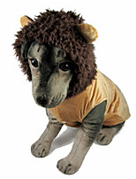 Yellow Lion Styles Cotton Coats For Dogs
