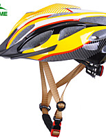 KUKOME Unisex Adjustable Outdoor Mountain Cycling Helmet Road Bike Helmet 54-62 cm Yellow