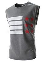 Tee-Shirt Décontracté Pour des hommes Sans Manches A Motifs Autres