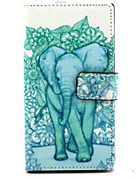 For Nokia Case Card Holder / Wallet / with Stand Case Full Body Case Elephant Hard PU Leather Nokia Nokia Lumia 830