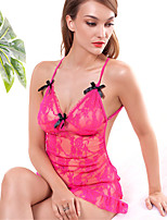 Women's Lace Chemises & Gowns/Lace Lingerie/Ultra Sexy Cut Out Translucence Backless Nightwear
