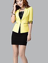 Women's Casual Work Thin Length Sleeve Regular Blazer (Others)