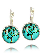 Vilam® Life Wisedom Tree Silver Earring For Women Glass Cabachon Bezel Brincos Perola Art Photo Earrings