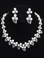 Flower style Women's Cubic Zirconia/Alloy/Imitation Pearl Wedding/Party Jewelry Set With