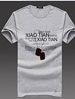 Men's T-Shirt Men's necklace Summer Slim round neck short sleeve cotton t-shirt