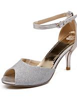 Women's Shoes  Kitten Heel Heels/Pointed Toe Pumps/Heels Outdoor/Dress/Casual Black/Silver/Gold