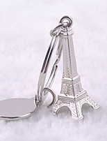 Unisex alloy recreational vogue Paris tower key chain