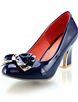 Women's Shoes Chunky Heel Heels/Round Toe/Closed Toe Pumps/Heels Office & Career/Dress/Casual Black/Blue/Coral