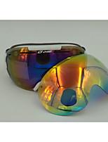 ly-100 lunettes de ski unisexe anti-buée / anti-UV / anti-rayures / incassable pc / uv TPU / lentille de revo