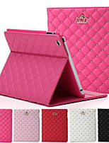 Crown Rhombus Diamond Leather Case Cover Stand for Apple iPad 2/3/4(Assorted Colors)