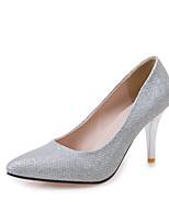 Scarpe Donna-Scarpe col tacco-Formale-A punta / Punta arrotondata-A stiletto-Finta pelle-Rosso / Argento / Dorato