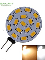 G4 7.5W 15x5730/5630SMD LED 650LM 3000K 6500K Warm White/Cool White for Car Light Bulb (DC9-36V)