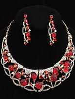 Ensemble de bijoux Multi-Stone / Cristal / Imitation de perle Alliage Femme