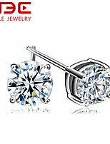 NBE Sterling Silver/Zircon Earring Stud Earrings Wedding/Party/Daily/Casual 1pair