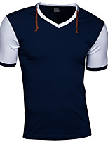 Men's Short Sleeve T-Shirt , Others Casual Pure