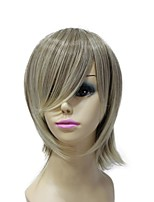 Capless Synthetic Blonde Straight Side Bangs Short Women Wigs