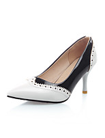 Women's Shoes Patent Leather Stiletto Heel Heels/Pointed Toe/Closed Toe Pumps/Heels Wedding/Party Black/Red/White