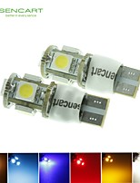 10 x T10 LED 2-Mode Blue/Red/Warm White/Green/Yellow/White1.5W 5X5050SMD 90LM   for Car Light Bulb  (DC12-16V)
