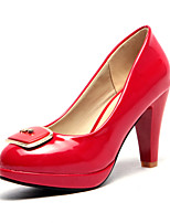 Women's Shoes Chunky Heel Comfort / Pointed Toe Heels Outdoor / Office & Career / Dress / Casual Black / Red / White