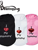 Lovely I Love My Momey Pattern 100% Cotton Vest for Pets Dogs (Assorted Colors Assorted Sizes)