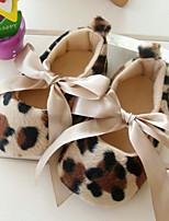 Baby Shoes Wedding/Dress/Casual Fleece Flats AnimalPrint