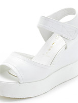 Women's Shoes Leather Slingback Sandals Dress White