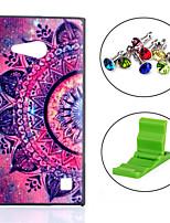 Для Кейс для Nokia С узором Кейс для Задняя крышка Кейс для Цветы Твердый PC Nokia Nokia Lumia 730