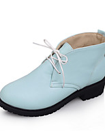 Women's Shoes Chunky Heel Fashion Boots/Round Toe Boots Dress/Casual Black/Blue/Pink/Beige