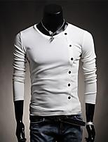 Men's Casual/Sport Pure Long Sleeve Regular T-Shirts (Cotton Blends)