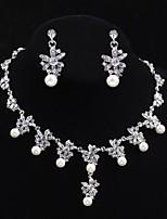Conjunto de joyas Cristal / Perla Artificial Aleación De mujeres