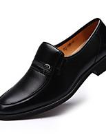 Черный-Для мужчин-Для офиса Повседневный Для вечеринки / ужина-Микроволокно-На плоской подошве-Удобная обувь Светодиодные подошвы-Кеды