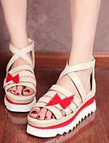 Women's Shoes Flat Heel Gladiator Sandals Outdoor/Casual Black/Beige